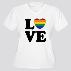 Gay Love Women's Plus Size V-Neck T-Shirt
