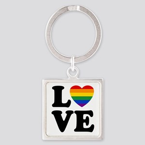 Gay Love Square Keychain