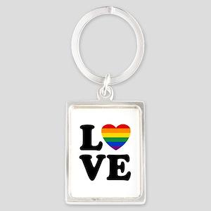 Gay Love Portrait Keychain