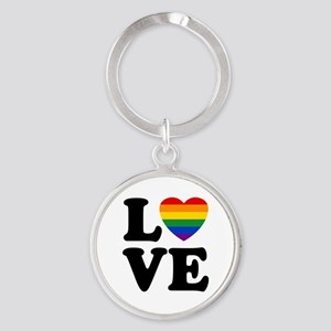 Gay Love Round Keychain