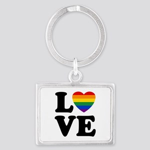 Gay Love Landscape Keychain