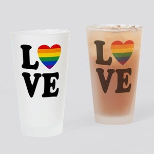 Gay Love Drinking Glass