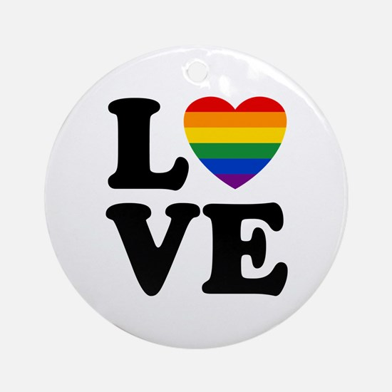 Gay Love Ornament (Round)
