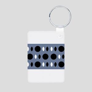 Almond Eye Shapes Grey Gray Designer Keychains