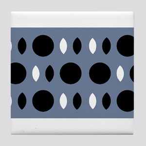 Almond Eye Shapes Grey Gray Designer Tile Coaster