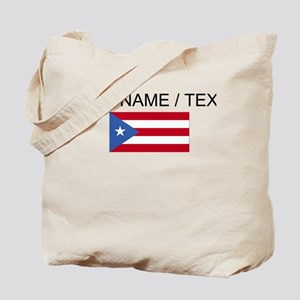 Custom Puerto Rico Flag Tote Bag