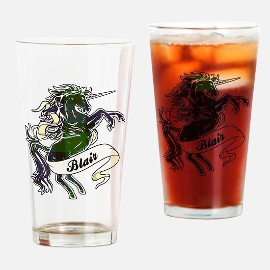 Blair Tartan Unicorn Drinking Glass