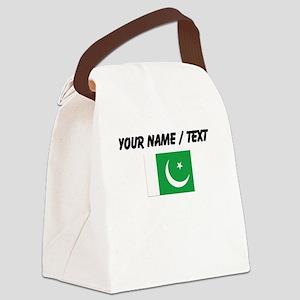 Custom Pakistan Flag Canvas Lunch Bag
