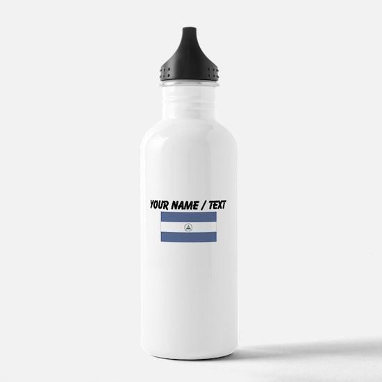Custom Nicaragua Flag Water Bottle