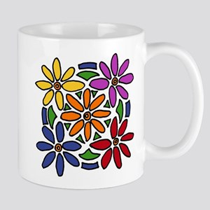 Colorful Daisy Floral Art Mug
