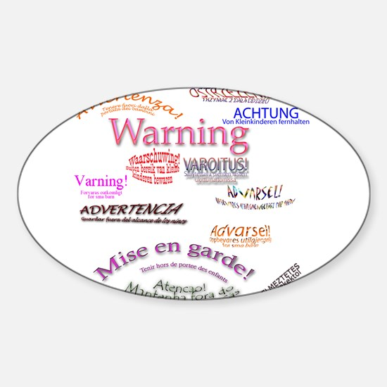Warning Oval Decal