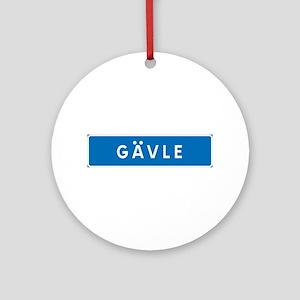 Road Marker Gävle - Sweden Ornament (Round)
