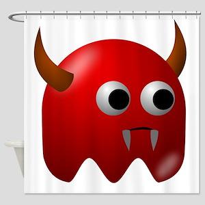 Red Devil Blob Shower Curtain