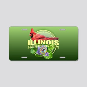 Illinois State Bird & Flower Aluminum License Plat