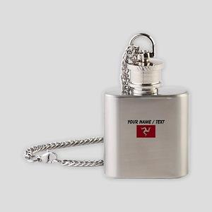 Custom Isle of Man Flag Flask Necklace