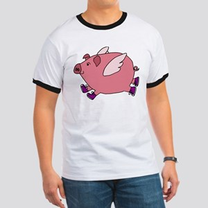 Flying Pig with Sneakers T-Shirt