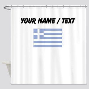 Custom Greece Flag Shower Curtain