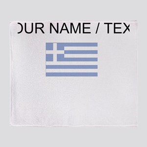 Custom Greece Flag Throw Blanket