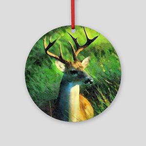 Buck Deer Ornament (Round)