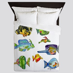 8 Cartoon Fish Queen Duvet