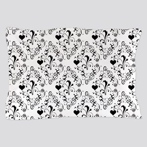 Black & White Damask #21a Pillow Case