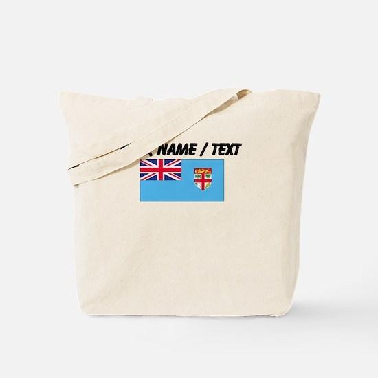 Custom Fiji Flag Tote Bag