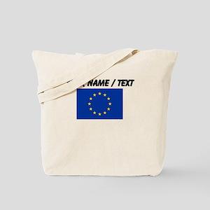 Custom European Union Flag Tote Bag