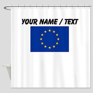 Custom European Union Flag Shower Curtain