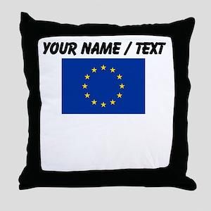 Custom European Union Flag Throw Pillow