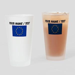 Custom European Union Flag Drinking Glass