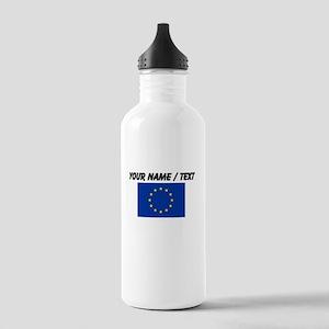 Custom European Union Flag Water Bottle