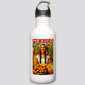 Vintage Mexico Fruit Travel Water Bottle