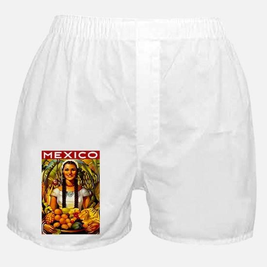 Vintage Mexico Fruit Travel Boxer Shorts