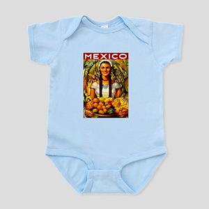 Vintage Mexico Fruit Travel Body Suit