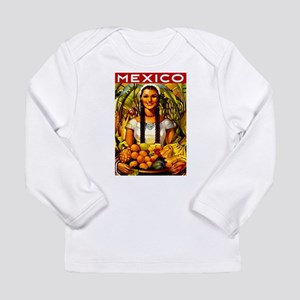 Vintage Mexico Fruit Travel Long Sleeve T-Shirt