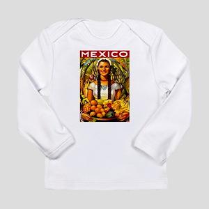 Vintage Mexico Fruit Travel Long Sleeve T-Shirt