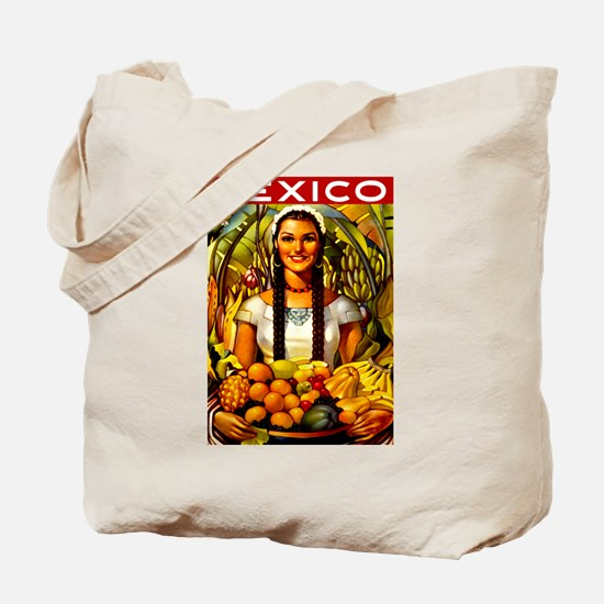 Vintage Mexico Fruit Travel Tote Bag