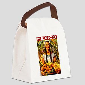 Vintage Mexico Fruit Travel Canvas Lunch Bag