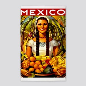 Vintage Mexico Fruit Travel 3'x5' Area Rug
