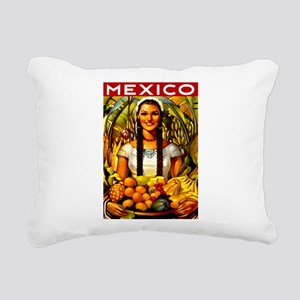 Vintage Mexico Fruit Travel Rectangular Canvas Pil