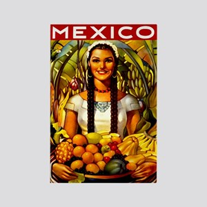 Vintage Mexico Fruit Travel Rectangle Magnet