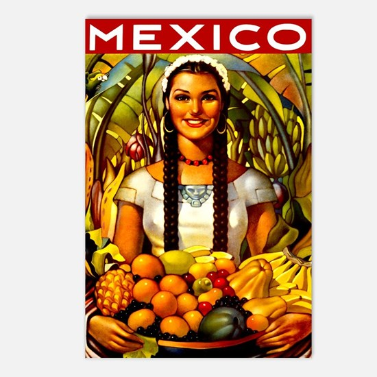 Vintage Mexico Fruit Travel Postcards (Package of