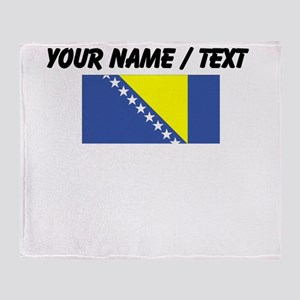 Custom Bosnia and Herzegovina Flag Throw Blanket