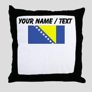 Custom Bosnia and Herzegovina Flag Throw Pillow