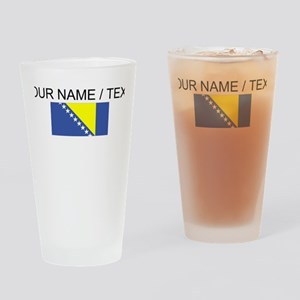 Custom Bosnia and Herzegovina Flag Drinking Glass