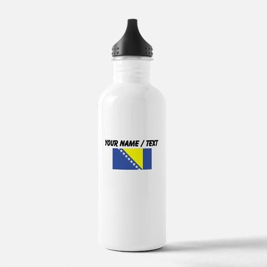 Custom Bosnia and Herzegovina Flag Water Bottle