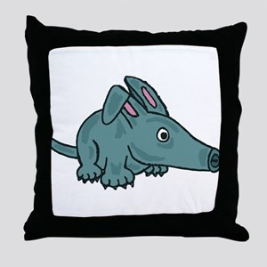Funky Aardvark Throw Pillow