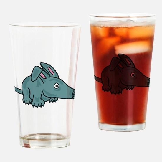 Funky Aardvark Drinking Glass