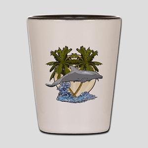 Dolphin splash Shot Glass