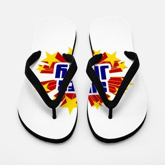 Jerry the Super Hero Flip Flops